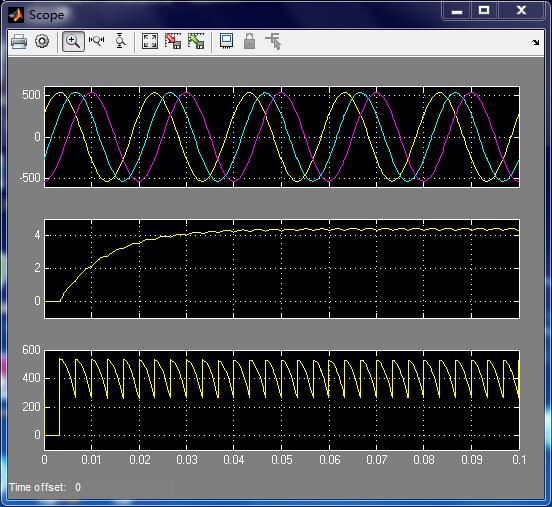最近在做电力电子技术的仿真实验,在三相桥式全控整流,当是晶闸管时,仿真图像和书本一样,但将晶闸管换成IGBT之后,仿真出来的图形完全变了,主要是输出的三个线电压的波形也变了,求大神指教!!! 以下是我两种情况仿真出来的波形。 file:///C:UsersgttAppDataRoamingTencentUsers879041302QQWinTempRichOleG$F@_PS}SAQCVG93]VTM0PE.