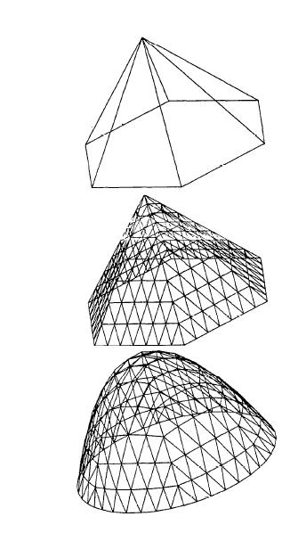 将抛物面划分为三角形网格
