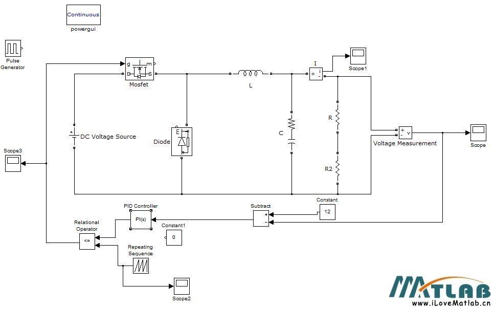 buck电路的pid控制设计及仿真