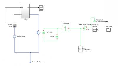 simscape中怎么用电路中电流值控制继电器?