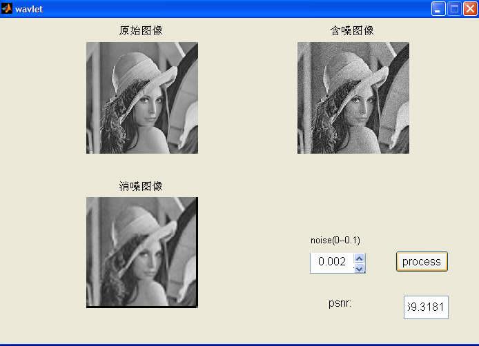 基于小波变换的图像去噪的matlab程序的源代码