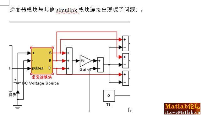 simulink关于无刷直流电机仿真逆变器模块问题